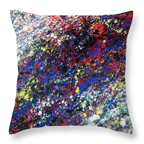 Action Throw Pillow featuring the painting Sundowner Race by Stephane Trahan