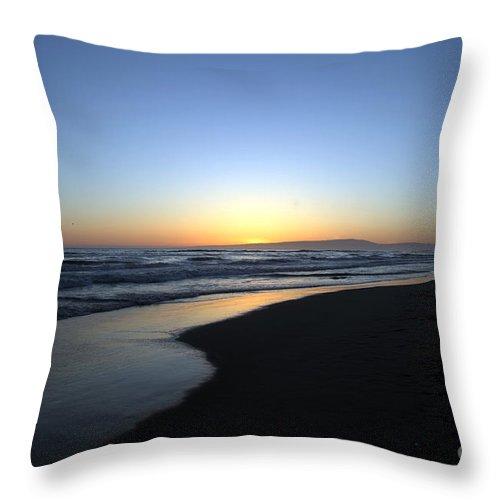 Beaches Throw Pillow featuring the photograph Sunet Beach by Amanda Barcon
