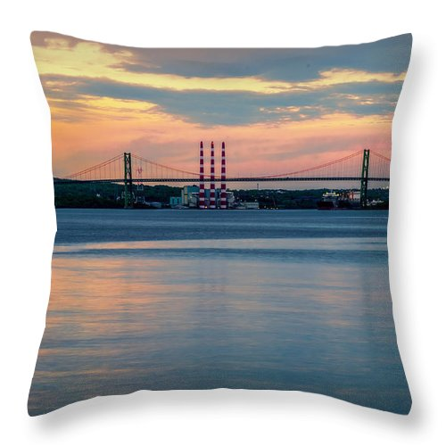 Bedford Throw Pillow featuring the photograph Sunset On The A Murray Mackay by Ken Morris