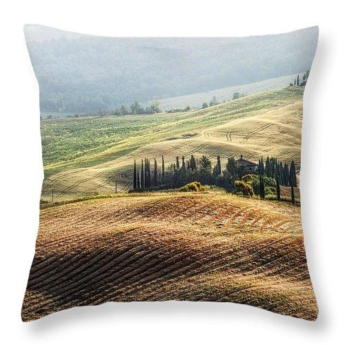 Kremsdorf Throw Pillow featuring the photograph Sunfields by Evelina Kremsdorf