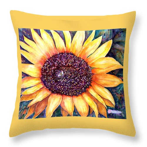 Sunflower Throw Pillow featuring the painting Sunflower Of Georgia by Norma Boeckler
