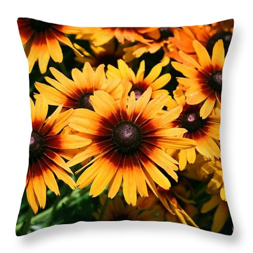 Sunflowers Throw Pillow featuring the photograph Sunflowers by Dean Triolo