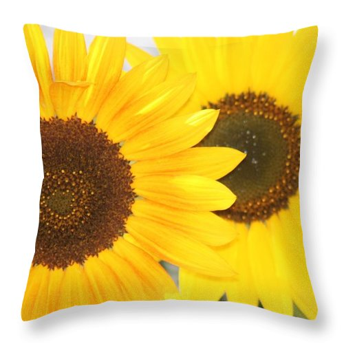 Sunflowers Throw Pillow featuring the photograph Sunflowers by Tiffany Vest
