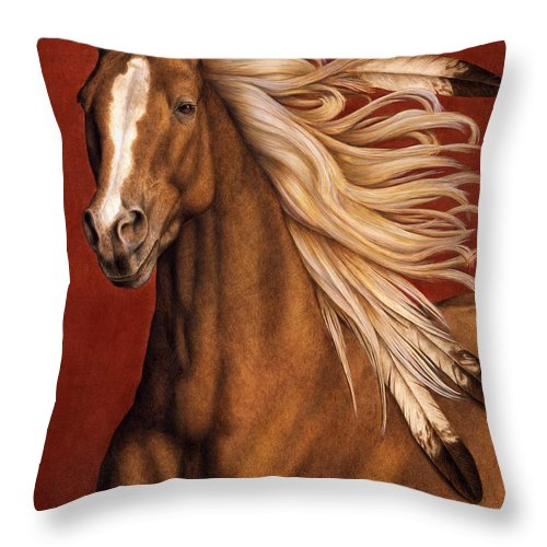 Horse Throw Pillow featuring the painting Sunhorse by Pat Erickson