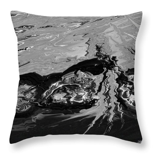 Motorcycles Throw Pillow featuring the painting Sunken Treasure by Wayne Bonney