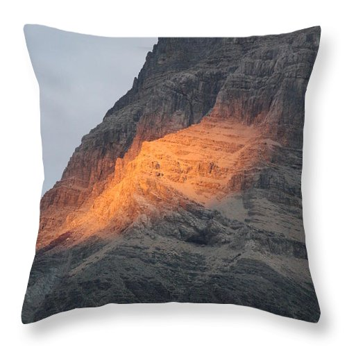 Nature Throw Pillow featuring the photograph Sunlight Mountain by Mary Mikawoz