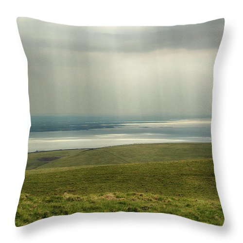 Ireland Throw Pillow featuring the photograph Sunlight On The Irish Coast by Marie Leslie