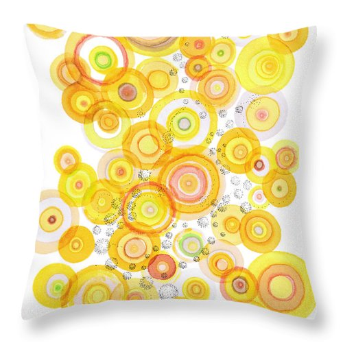 Happy Throw Pillow featuring the drawing Sunlight Ripples by Regina Valluzzi