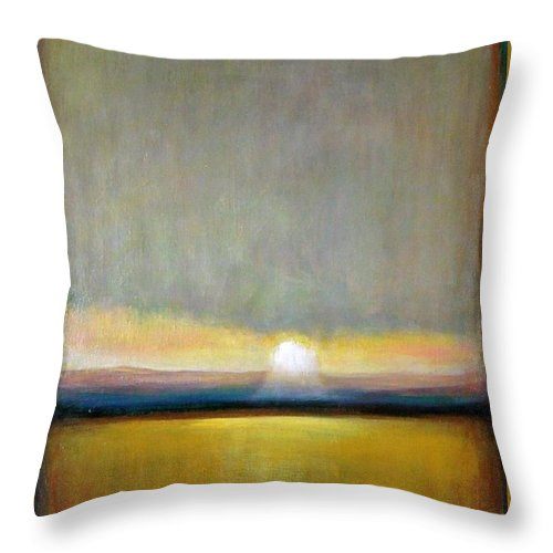 Painting Throw Pillow featuring the painting Sunlight by Vesna Antic