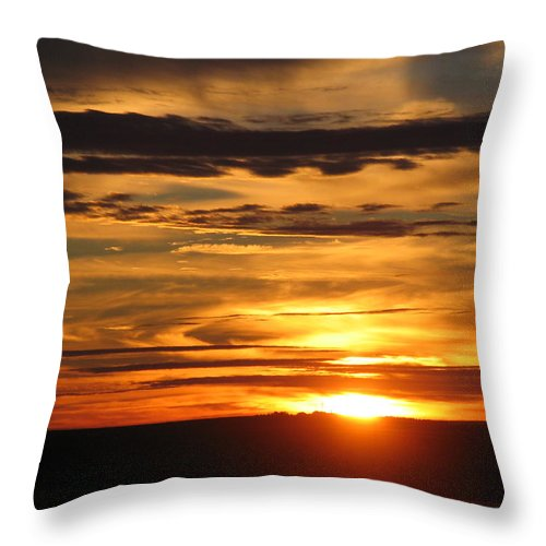 Landscape Throw Pillow featuring the photograph Sunrise 1 by David Dunham