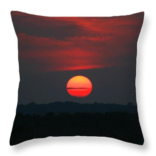 Sunrise Throw Pillow featuring the photograph Sunrise 2 by David Dunham