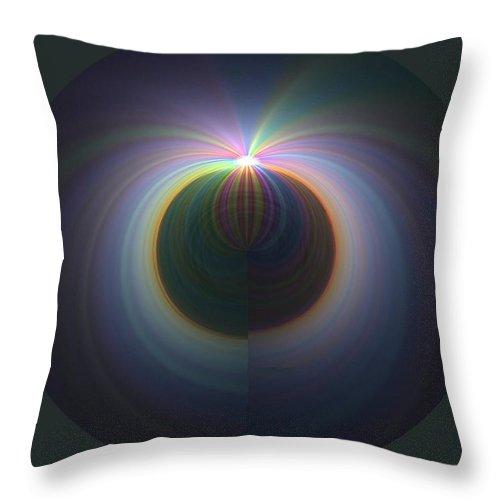 Sunrise Throw Pillow featuring the digital art Sunrise At 30k 2 by Tim Allen