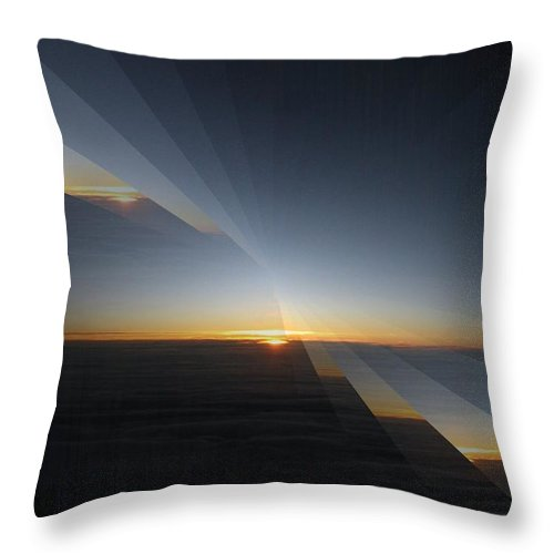 Sunrise Throw Pillow featuring the photograph Sunrise At 30k 4 by Tim Allen