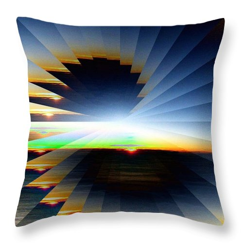 Sunrise Throw Pillow featuring the photograph Sunrise At 30k 6 by Tim Allen