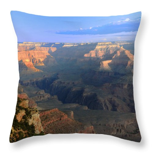 Landscape Throw Pillow featuring the photograph Sunrise At Mather Point -- Grand Canyon by Brian Hoover