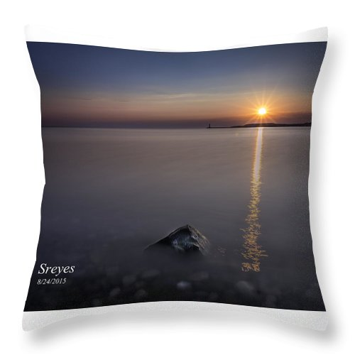 Sodus Point Throw Pillow featuring the photograph Sunrise At Sodus Point by Scott Reyes