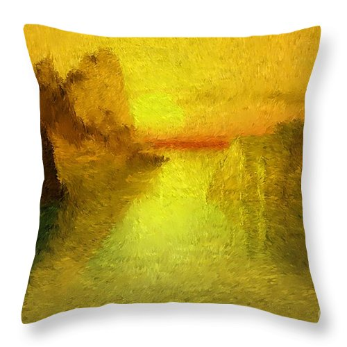 Nature Throw Pillow featuring the digital art Sunrise by David Lane