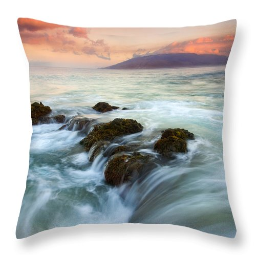 Sunrise Throw Pillow featuring the photograph Sunrise Drain by Mike Dawson