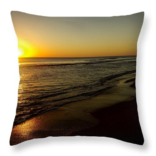 Sunrise Throw Pillow featuring the photograph Sunrise First Light by James C Thomas