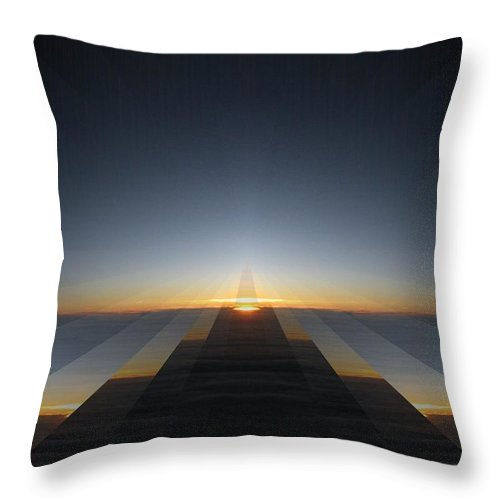 Sunrise Throw Pillow featuring the digital art Sunrise From 30k 3 by Tim Allen