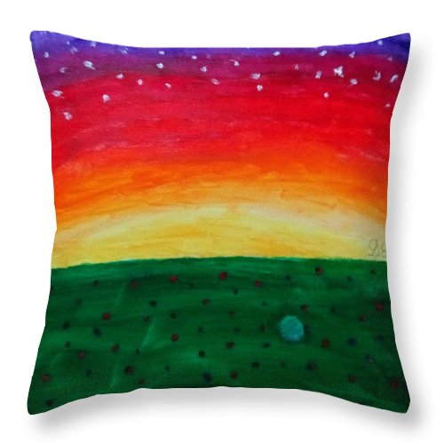 Throw Pillow featuring the painting Sunrise by Gracie Elkins