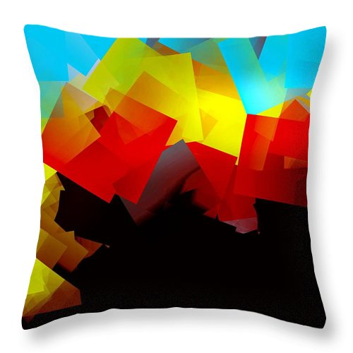 Sunrise Throw Pillow featuring the digital art Sunrise by Helmut Rottler
