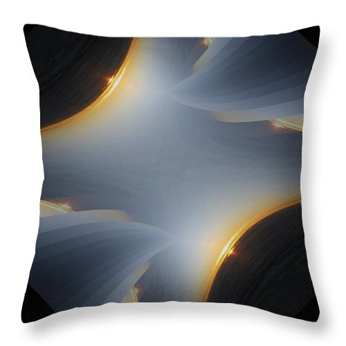 Sunrise Throw Pillow featuring the digital art Sunrise In Fractal by Tim Allen