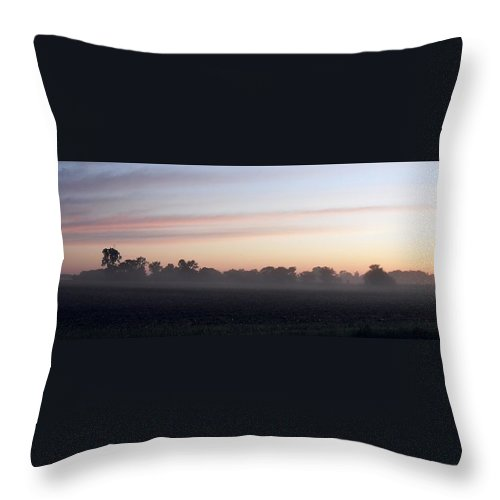 Sunrise Throw Pillow featuring the photograph Sunrise On The Mists by Peggy King