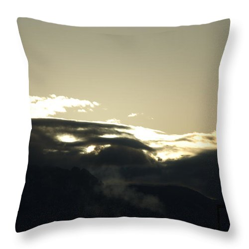 Sunrise Throw Pillow featuring the photograph Sunrise Over The Sandias by Rob Hans