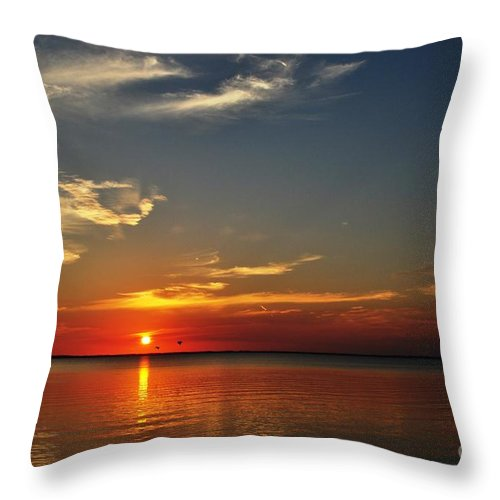 Apalachicola Throw Pillow featuring the photograph Sunrise Reflection by Mark Stratton