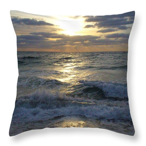 Sunrise Throw Pillow featuring the photograph Sunrise Reflections by Peggy King