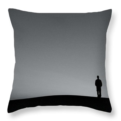 Silhouette Throw Pillow featuring the photograph Sunrise Silhouette by Scott Sawyer