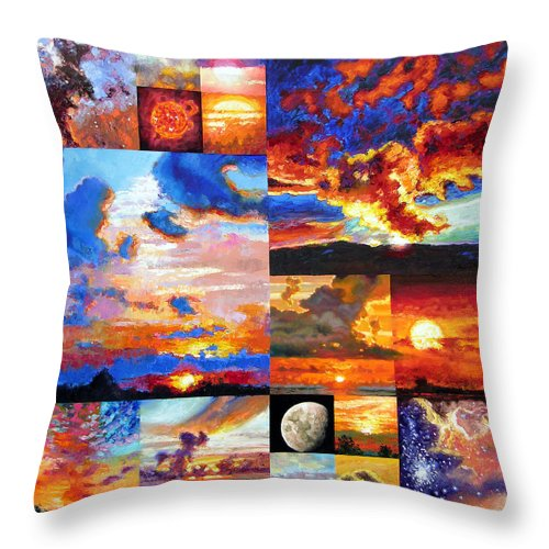 Sunrise Throw Pillow featuring the painting Sunrise Sunset Sunrise by John Lautermilch