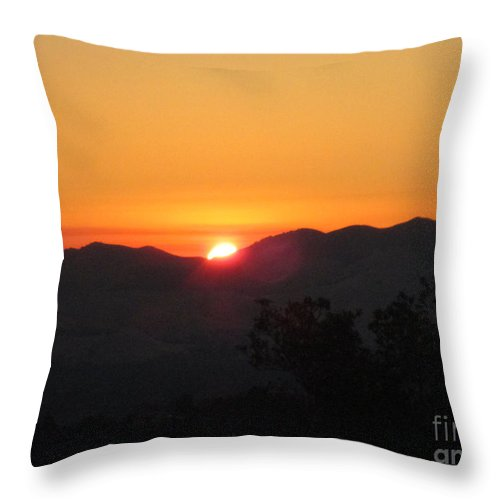 Sunrise Throw Pillow featuring the photograph Sunrise by Suzanne Leonard
