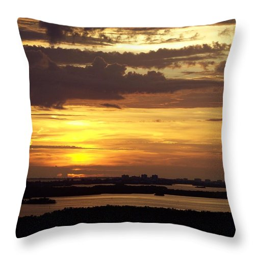 Sunset Throw Pillow featuring the photograph Sunset 0001 by Laurie Paci