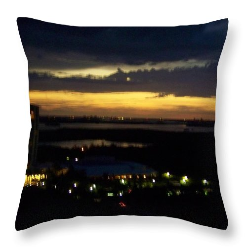 Sunset Throw Pillow featuring the photograph Sunset 0002 by Laurie Paci