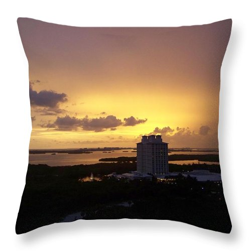 Sunset Throw Pillow featuring the photograph Sunset 0003 by Laurie Paci