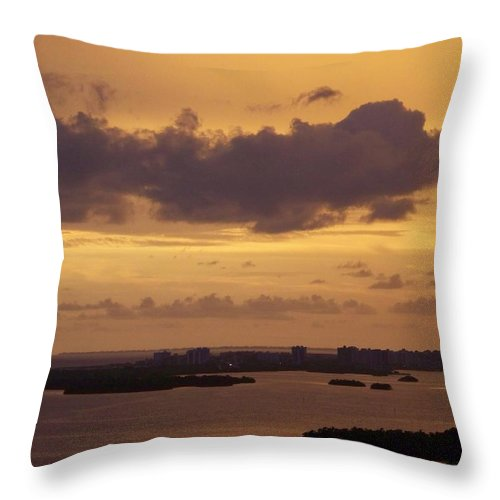 Sunset Throw Pillow featuring the photograph Sunset 0004 by Laurie Paci