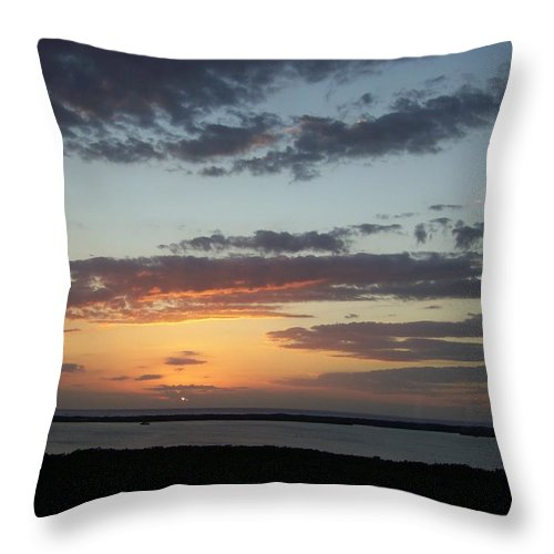 Sunset Throw Pillow featuring the photograph Sunset 0008 by Laurie Paci