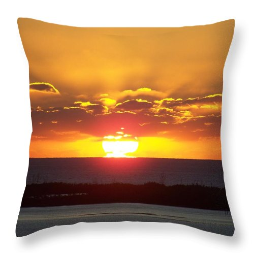 Sunset Throw Pillow featuring the photograph Sunset 0010 by Laurie Paci