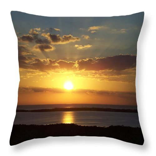 Sunset Throw Pillow featuring the photograph Sunset 0012 by Laurie Paci