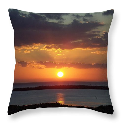 Sunset Throw Pillow featuring the photograph Sunset 0013 by Laurie Paci