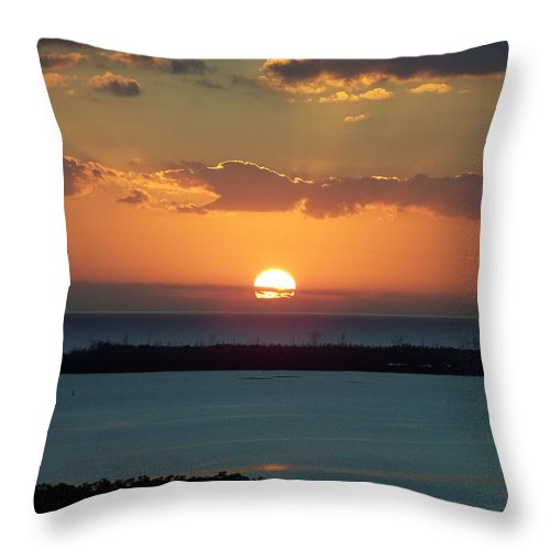 Sunset Throw Pillow featuring the photograph Sunset 0014 by Laurie Paci