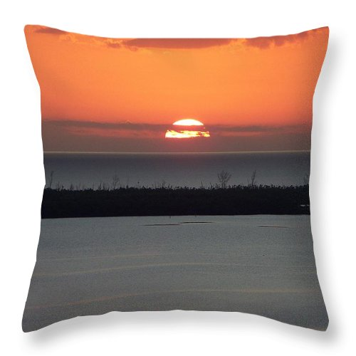 Sunset Throw Pillow featuring the photograph Sunset 0015 by Laurie Paci