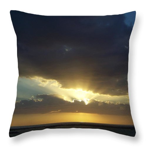 Sunset Throw Pillow featuring the photograph Sunset 0023 by Laurie Paci