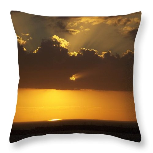 Sunset Throw Pillow featuring the photograph Sunset 0025 by Laurie Paci