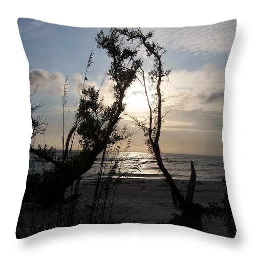 Sunset Throw Pillow featuring the photograph Sunset 0027 by Laurie Paci