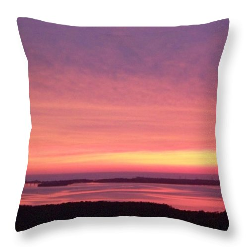 Sunset Throw Pillow featuring the photograph Sunset 0029 by Laurie Paci