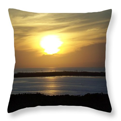 Sunset Throw Pillow featuring the photograph Sunset 0030 by Laurie Paci