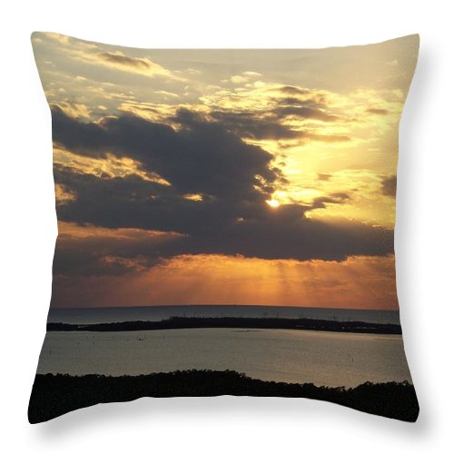 Sunset Throw Pillow featuring the photograph Sunset 0036 by Laurie Paci